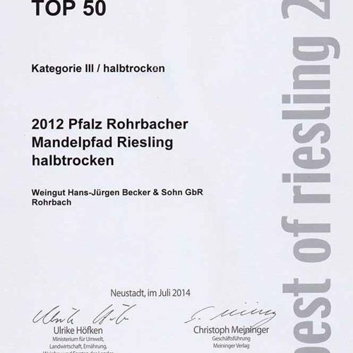 Best of Riesling 2014